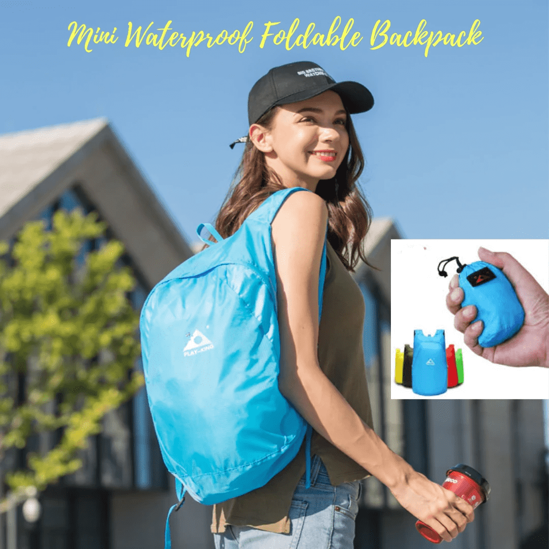Mini Waterproof Foldable Backpack - Blazing Dealz