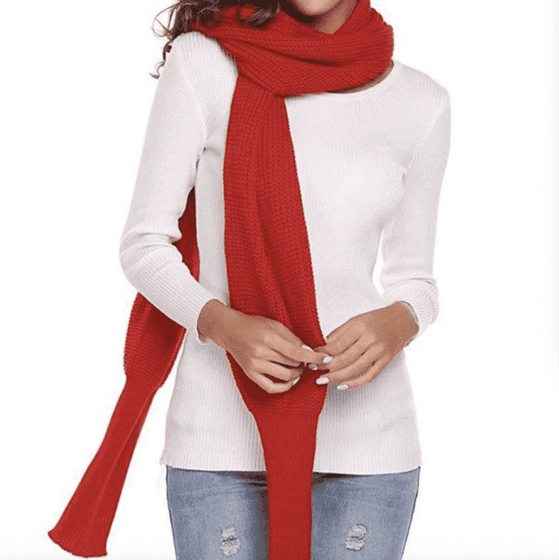 Holiday Sale Savings Over 50% OFF: Crochet Sweater Scarf with Sleeves - Discounts You May Like