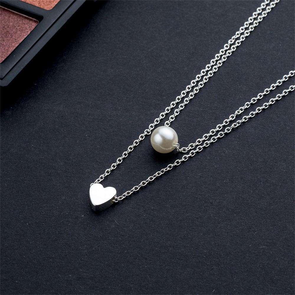 Bohemia fashion Imitation : Double layer Heart  chain necklace - Discounts You May Like