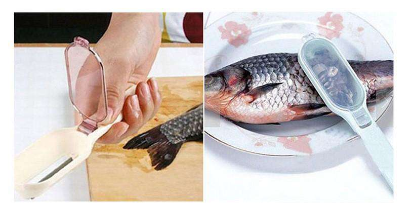 Fish Scale Remover Scraper Fish Skin Cleaner Kitchenware Tool - Blazing Dealz