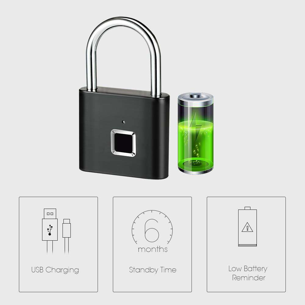 Fingerprint Smart Padlock - Blazing Dealz