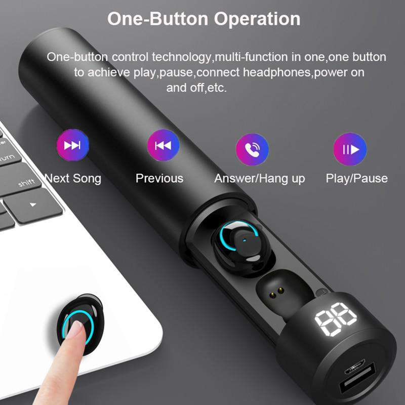 Bluetooth Wireless Earphone with Microphone - Discounts You May Like