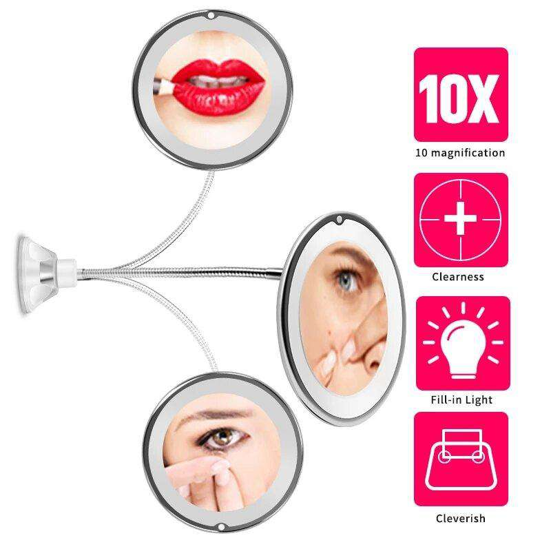 10x Magnifying LED Lighted Makeup Mirror - Blazing Dealz