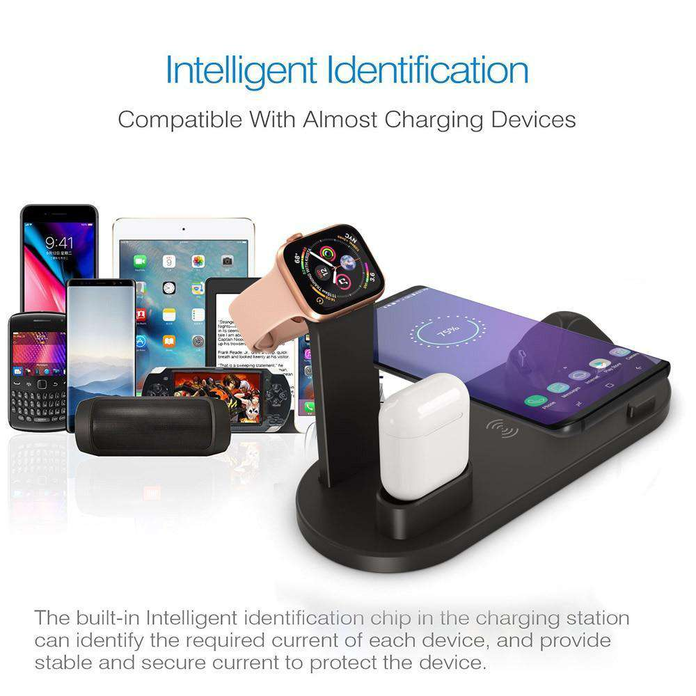 DCAE 4 in 1 Qi Wireless Charger For Apple devices - Discounts You May Like
