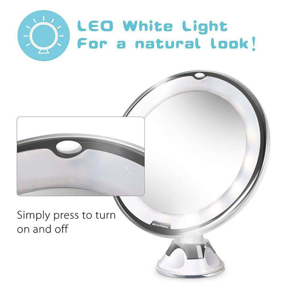 10 x Magnifying LED Lighted Makeup Mirror - Blazing Dealz