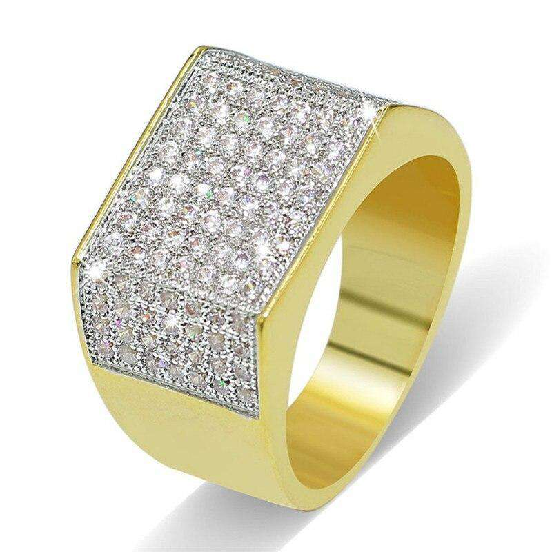 LUXURY HIP HOP 925 STERLING STIMULATED DIAMOND RING - Discounts You May Like