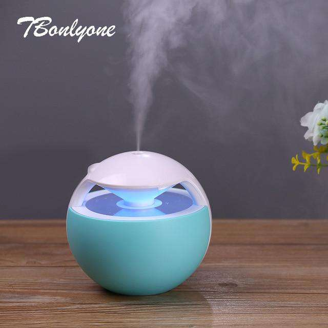 450ML Ball Humidifier with Aroma Lamp Essential Oil Ultrasonic Electric Diffuser - Discounts You May Like