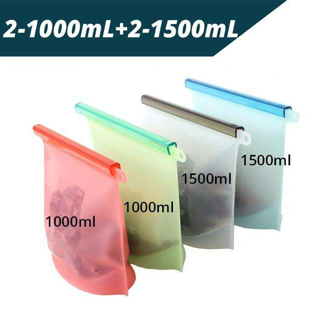 Reusable Silicone Preservation Airtight Food Seal Bag - Blazing Dealz
