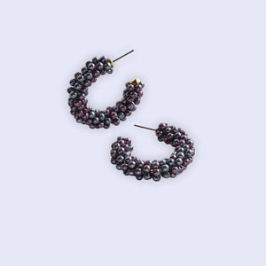 Perla Earrings- Black