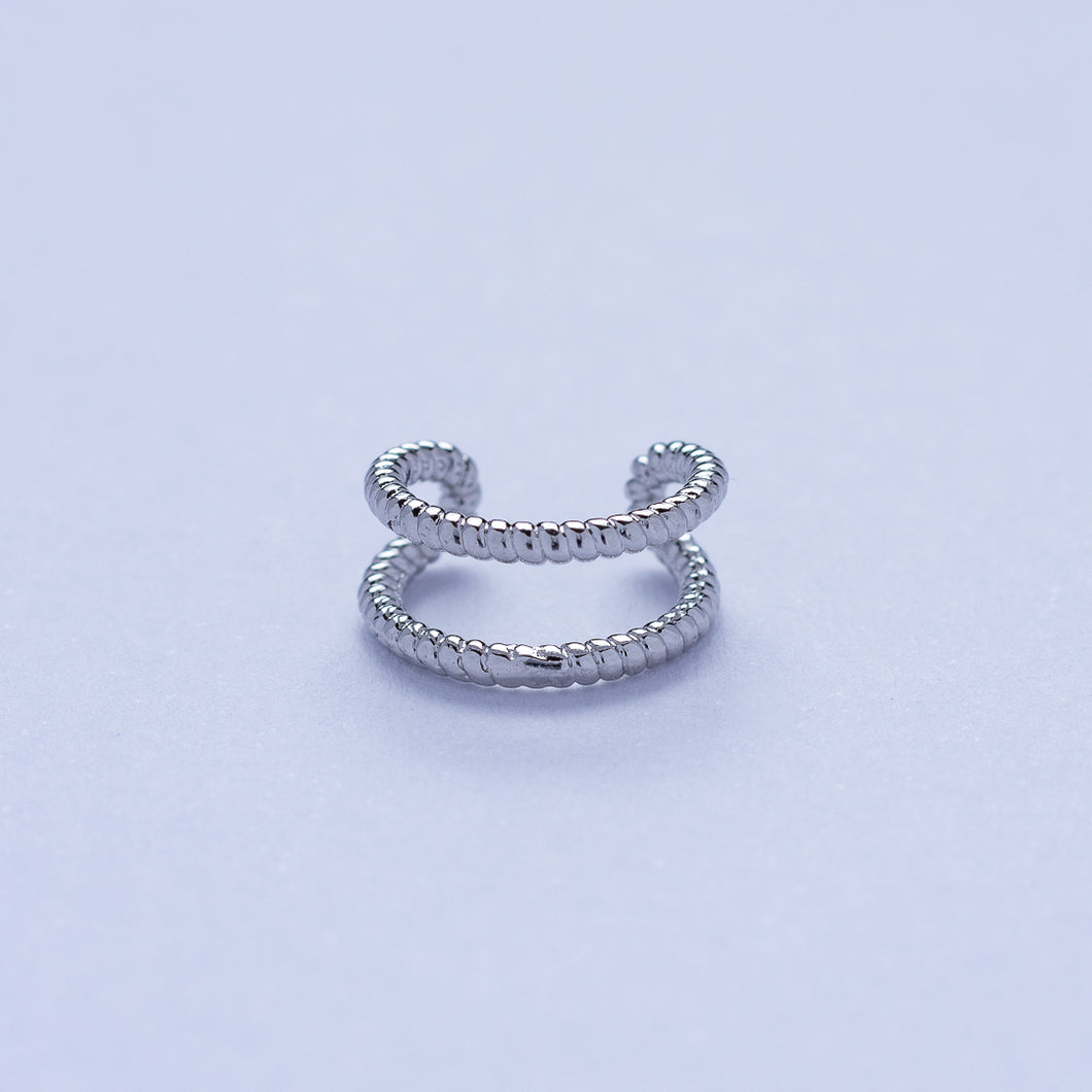 Braid Ear Cuff - Silver