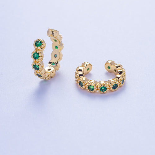 Hera Ear Cuffs - Green