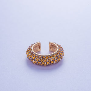 Crystal Ear Cuff - Honey