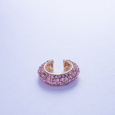 Crystal Ear Cuff - Rose