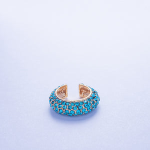 Crystal Ear Cuff - Aqua