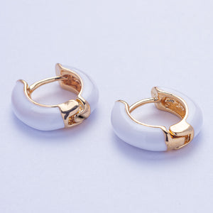 Mia Earrings - White