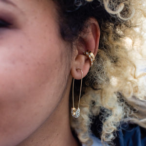 Hera Ear Cuffs - White