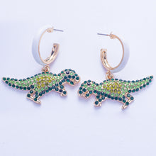 Load image into Gallery viewer, Saurus Earrings - Green