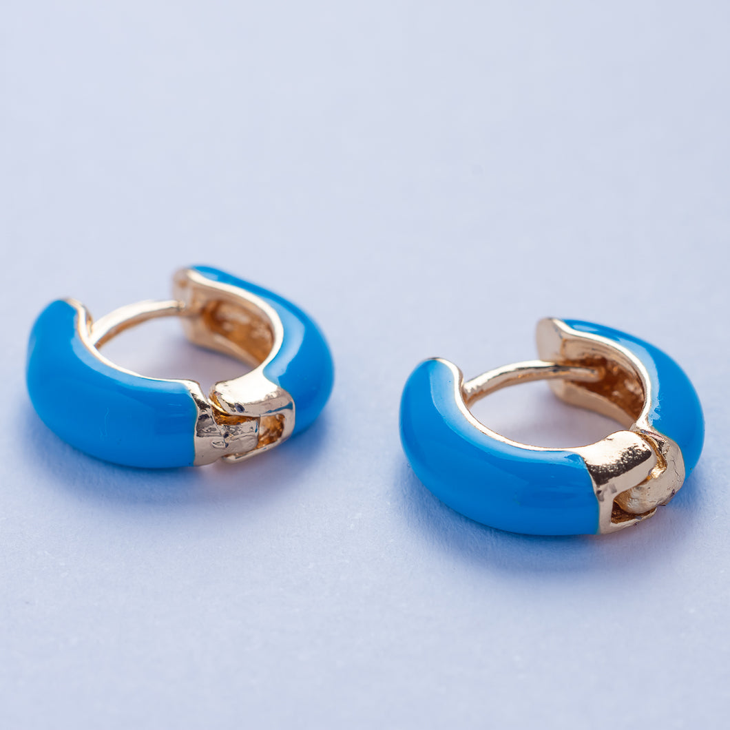 Mia Earrings - Blue