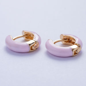 Mia Earrings - Pink