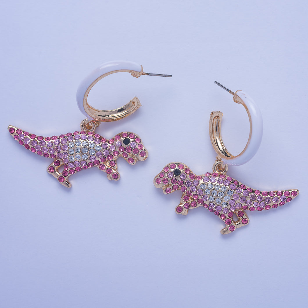 Saurus Earrings - Pink