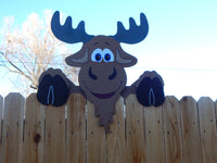 Moose Fence Peeker Outdoor Yard Garden Party Playground Decorations