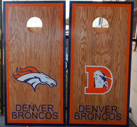 Bronco Football Set with Blue and Orange Bags and options to choose