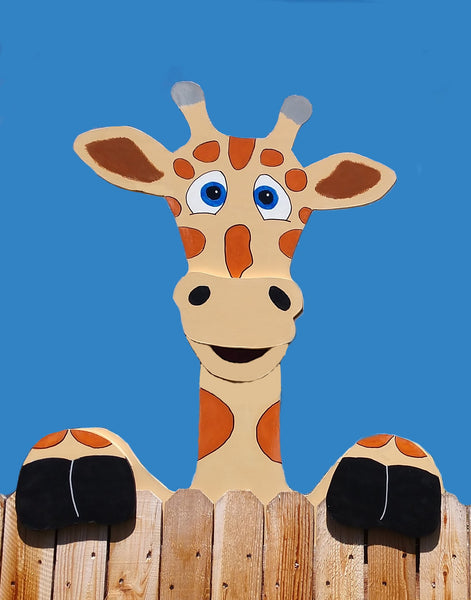 Jumbo Giraffe Fence Peeker Outdoor Yard Garden Party Playground Decoration