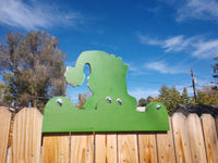 The Grinch Christmas Fence Peeker Outdoor Holiday Outdoor Decoration