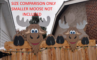 Jumbo Moose Fence Peeker Outdoor Yard Garden Party Playground Decorations