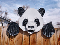 Panda Bear Fence Peeker Outdoor Yard Garden Party Playground Decoration