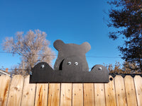 Bear Fence Peeker Outdoor Yard Garden Party Playground Decoration