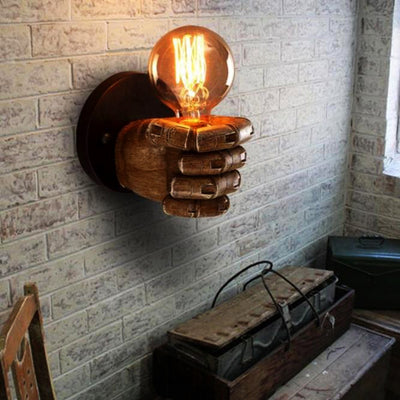 Vintage Hand Shaped Lamp