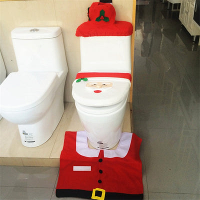 Christmas Toilet Deco