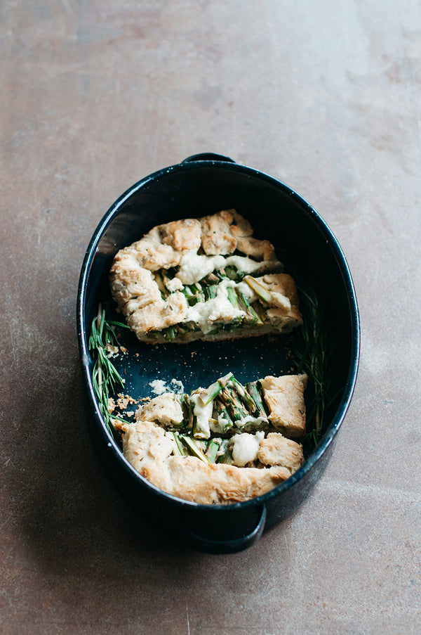 Rosemary & Garlic Asparagus Tart