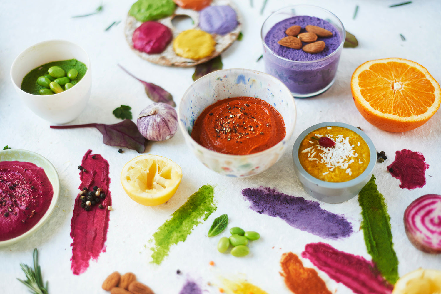 bright vegan dips
