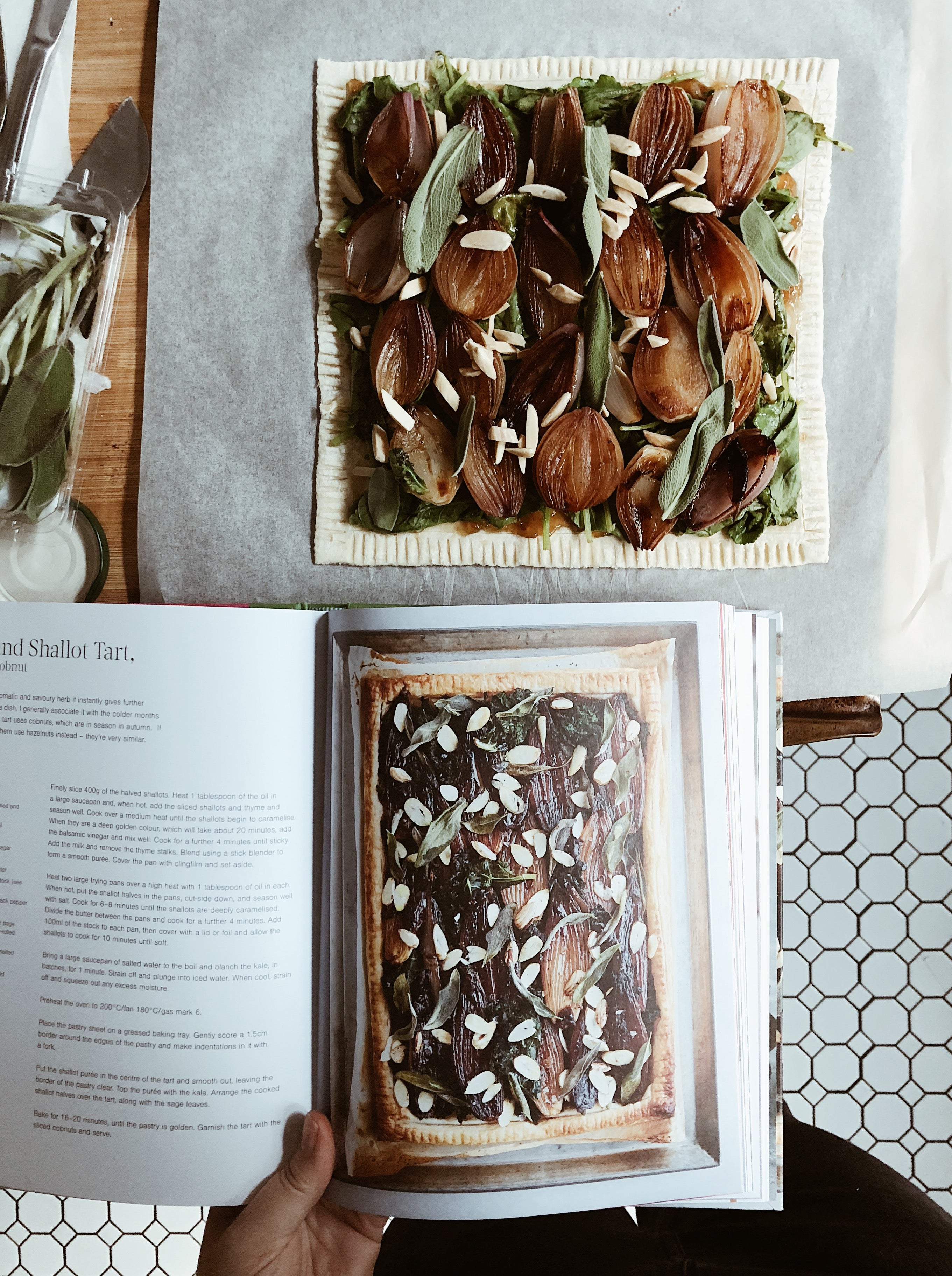 Vegan Sage & Shallot Tart and a review of Planted by Chantelle Nicholson