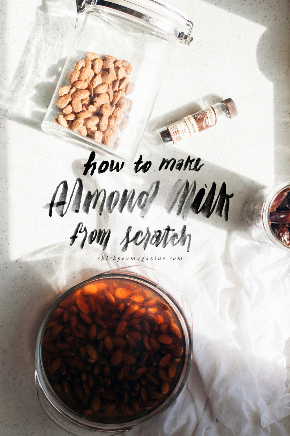 how to make almond milk from scratch