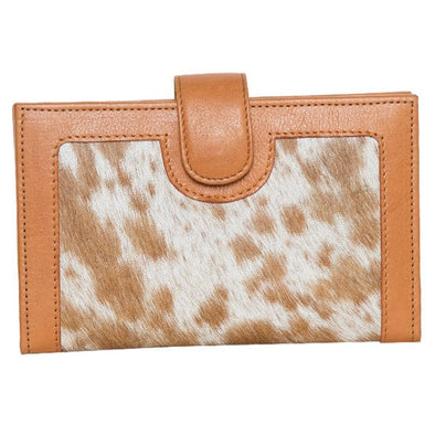 Ladies Los Angeles Hair-on  & Leather Wallet - Jersey/Tan