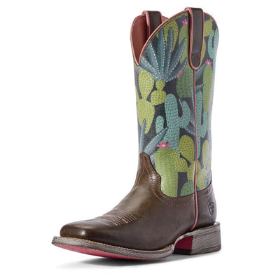 Ariat Ladies Circuit Savanna Boots - Desert Taupe/Navy Cactus