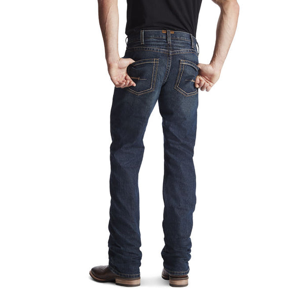 Ariat Rebar M5 Slim Durastretch Stackable Sraight Jeans - Blackstone