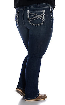 R.E.A.L. Mid Rise Stretch Entwined Boot Cut Jean Plus