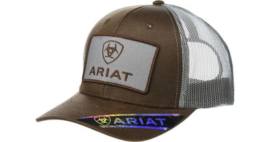 Ariat Brown and Grey Logo Cap