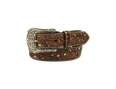 Ariat Ladies Pink Shimmer Tooled Belt