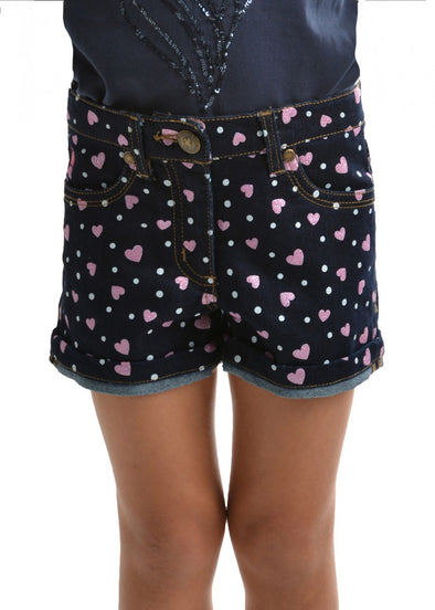 Thomas Cook Girls Print Denim Short