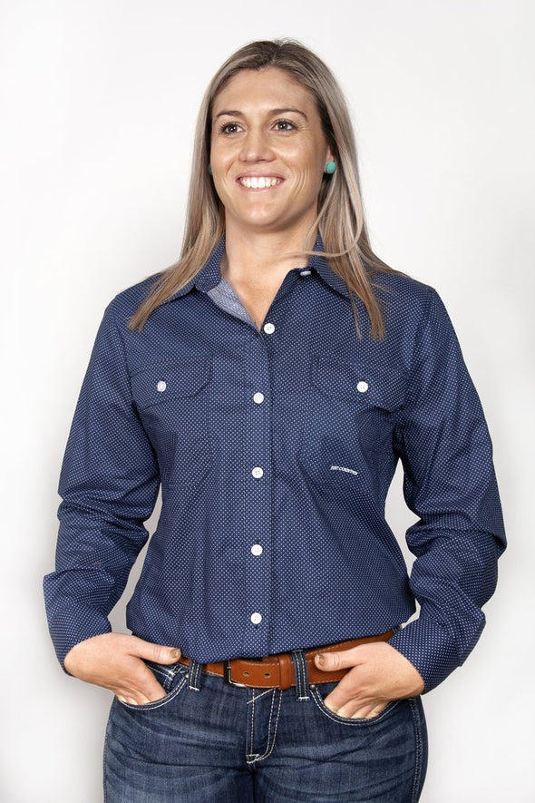 Just Country Abbey Full Button Shirt (WWLS1941)