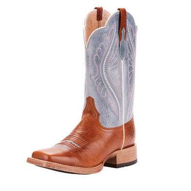 Ariat Ladies Primetime Boots - Gingersnap/Baby Blue Eyes