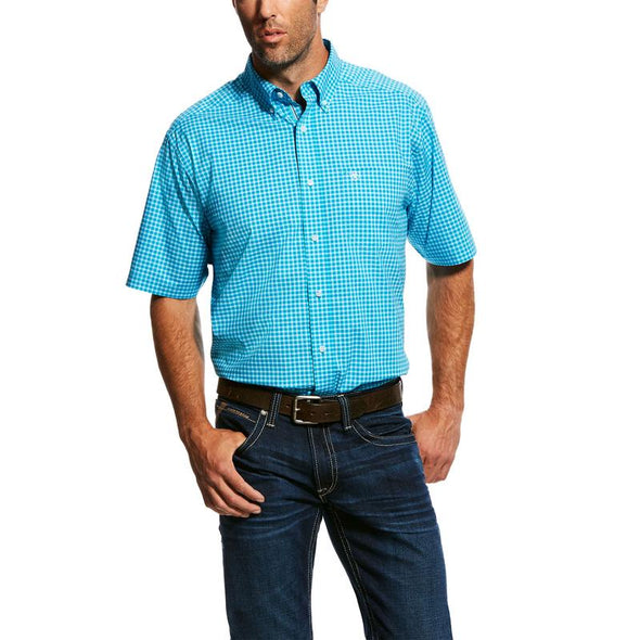 Ariat Mens Natson Stretch Performance S/S Shirt