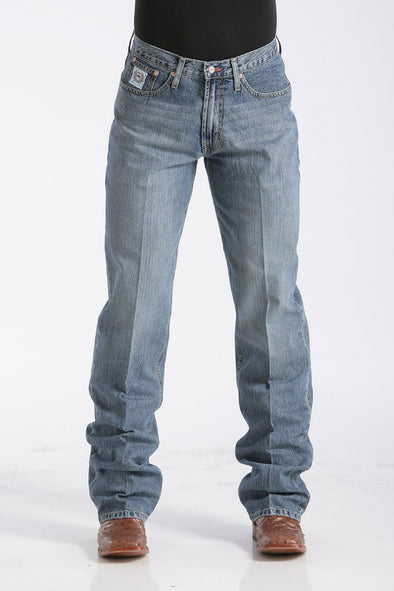 Cinch Mens Relaxed Fit White Label Jeans - Medium Stonewash