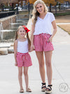 Gracie  Red Gingham Shorts