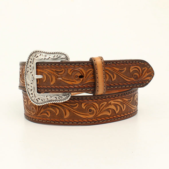 Nocona Mens Tuscan Tooled Belt